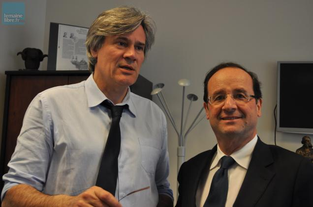 Stéphane Le Foll avec François Hollande dans son bureau à Paris.