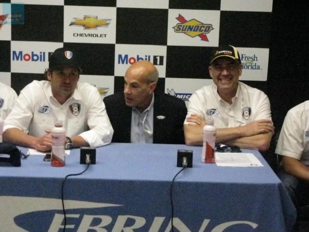 L'acteur Patrick Dempsey (à gauche) s'engage pour de bon dans la course automobile.