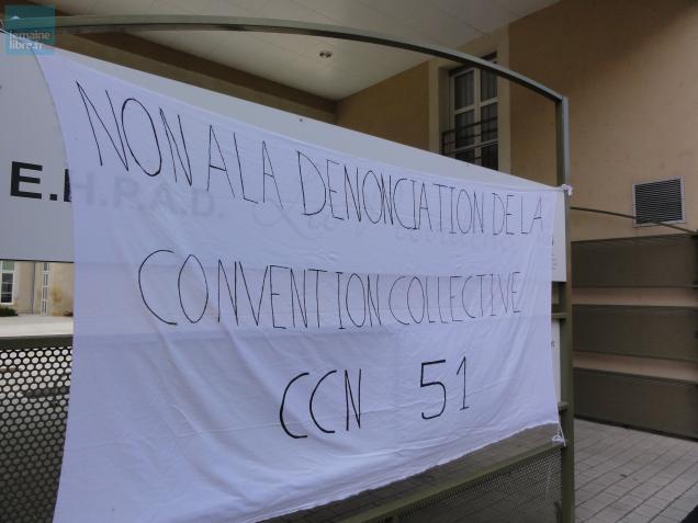 Une mobilisation qui a trait à la convention collective des établissements hospitaliers et d'aide à la personne.