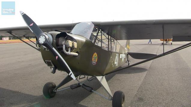 """Au """"Maine Libre"""", nous avons eu la chance de voler à bord d'un Piper L4H, un avion de la Seconde guerre mondiale."""