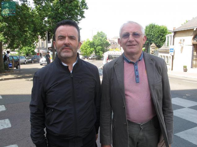 Jean-Luc Ourcoudoy, directeur de la CMA 72, et Guy Deschoolmeester, président.