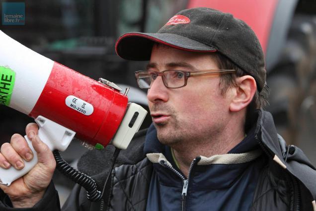 David Bourdin, président des Jeunes agriculteurs de la Sarthe.