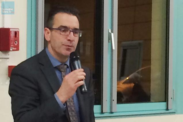François Boussard, ce jeudi soir lors de l'assemblée de Sud Sarthe à Aubigné-Racan.