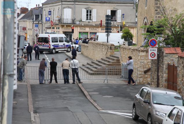 Coulaines  Reconstitution du meurtre commis en plein centre